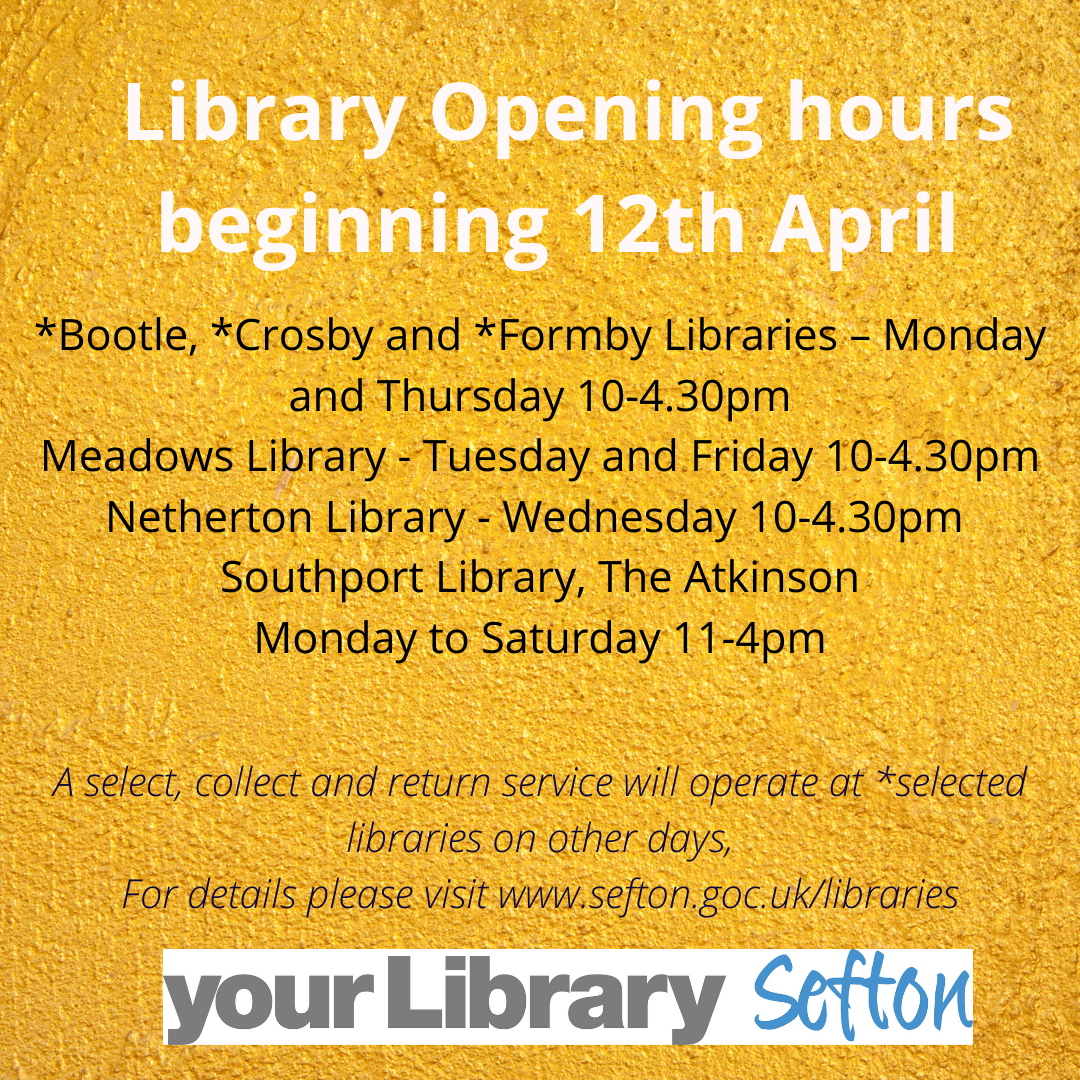 Library opening hours from 12th April